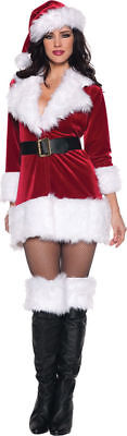 Morris Costumes Women's Holiday Christmas Santa Mini Dress Costume S. UR29215SM