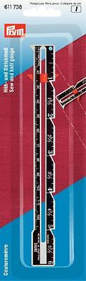 Näh - und Strickmaß Metall cm und inch Skala Handmaß Prym 611738 Lineal