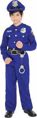 Morris Costumes Boys Police Officer Child Complete Costume Blue 2-4. MR144138