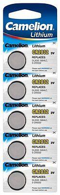 5x Lithium Knopfzelle Batterien Camelion 3 Volt CR2032 Batterie Uhrbatterie 20mm