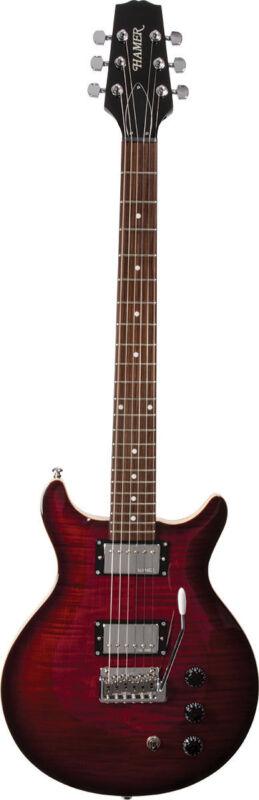 Hamer Archtop Tremolo Electric Guitar, Dark Cherry SATFW-DCB w/Case SALE!