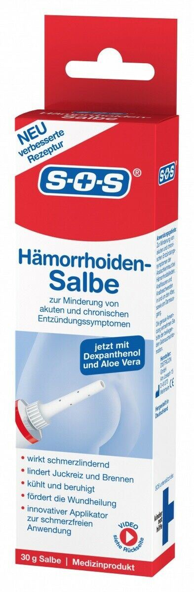 SOS Hämorrhoiden Salbe | kühlt, beruhigt | Hämorriden Mittel, Creme | Aloe Vera