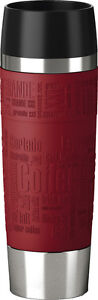 Emsa 515617 Travel Mug Grande Isolierbecher Thermobecher 0,5l Becher togo rot
