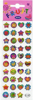 Smiley Face Charts - Single Pack Stickers Reward Chart Classroom Party Smiley Face Fruit Cherry Apple