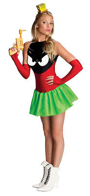 Looney Tune Costumes (Marvin the Martian Looney Tunes Space Fancy Dress Halloween Sexy Adult)