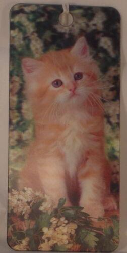 Ginger kitten 3D lenticular bookmark 15cm x 5.75cm with tassel