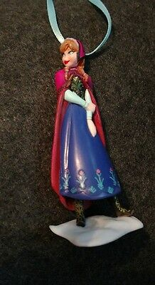 - Disney Frozen Anna Christmas Ornament pink cape