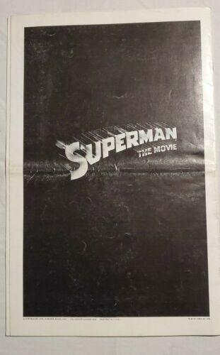 1978 SUPERMAN CHRISTOPHER REEVE PRESSBOOK MERCHANDISING & ADVERTISING ORIGINAL