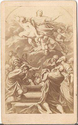 CDV photo Kunstbild Carrecci / Die Himmelfahrt Mariä - 1870er