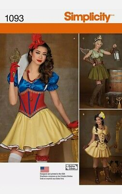 Simplicity Sewing Pattern 1093 H5 Cosplay Costume Steampunk Fairytale S 6-14 NEW