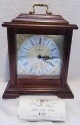 Howard Miller Dual Chime 621-481 Mantel Shelf Clock 11-1/2 Tall w/ Instructions