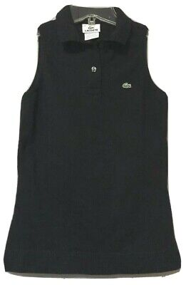LaCoste Womens Black Sleeveless Polo Shirt/Top Size 36 Small
