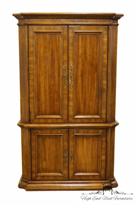 """STANLEY FURNTIURE Italian Neoclassical Tuscan Style 43"""" Clothing Armoire"""