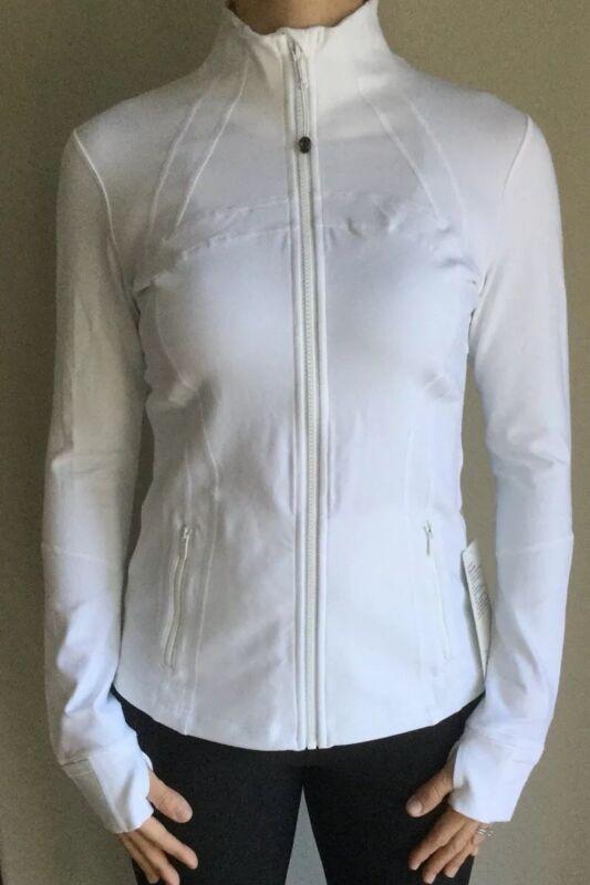 LULULEMON Size 4 Define Jacket White Stretch Lightweight Luon Zip Up Yoga NWT