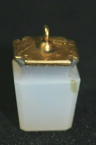 14K Antique Victorian Edwardian Memorial Watch Fob Charm Agate  PIT #13