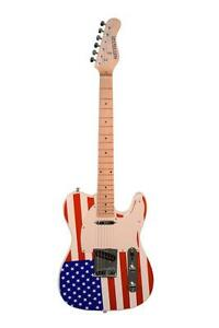 Patriotic American Flag Electric Guitar, TL-Style Red White & Blue