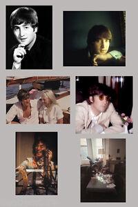 John-Lennon-1963-1969-6-rare-real-photographs-Beatles-candid-photo-set