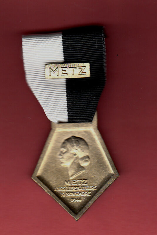 METZ LIBERATION MEDAL FRANCE WWII WW2  FRENCH 95TH ID NORMANDY MUSEUM REPLICA!