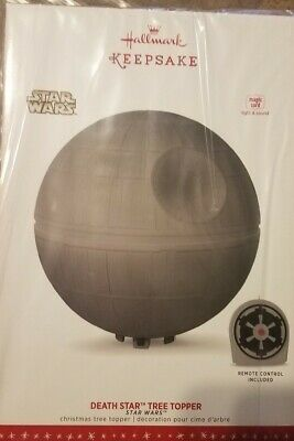 Star Wars A New Hope Death Star Hallmark Keepsake Christmas Tree Topper NIB NEW