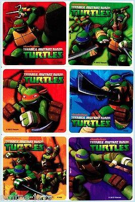 Teenage Mutant Ninja Turtles x 6 Stickers- Birthday Party Supplies/Favours -TMNT
