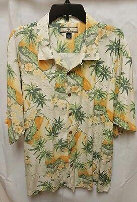 Tommy Bahama Diamond Head Sunset Island 100  Silk Hawaiian Shirt Xl