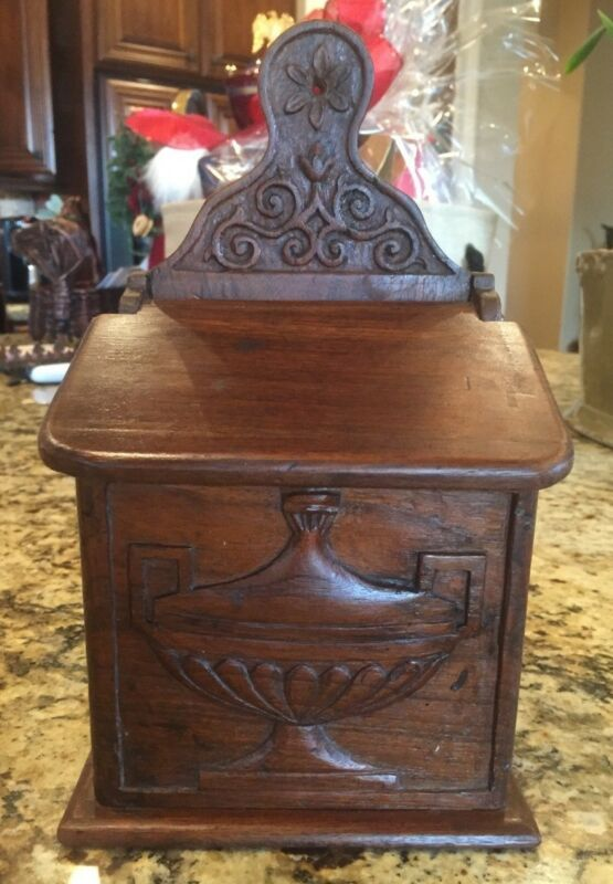 ANTIQUE FRENCH WALNUT PROVENCAL FARINIERE OR FLOUR BOX