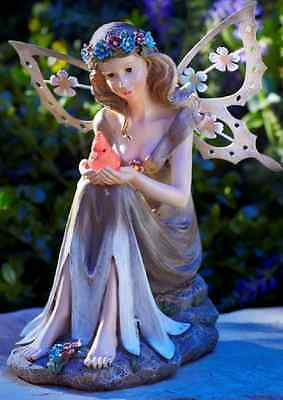 Solar Powered Garden Fairy Statue Angel Outdoor Decor Flower Patio Lawn Yard