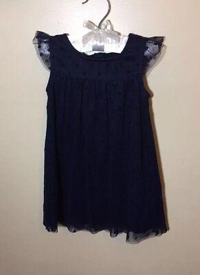 Nautica Dress Girls Navy Blue Polka Dot 2T