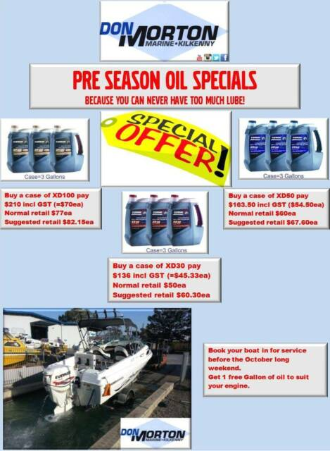 2 Stroke Oil Specials, XD100, XD50, XD30, ETEC OIL | Boat