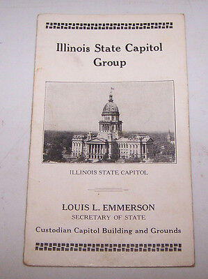 1925 Illinois State Capital Group Information Souvenir