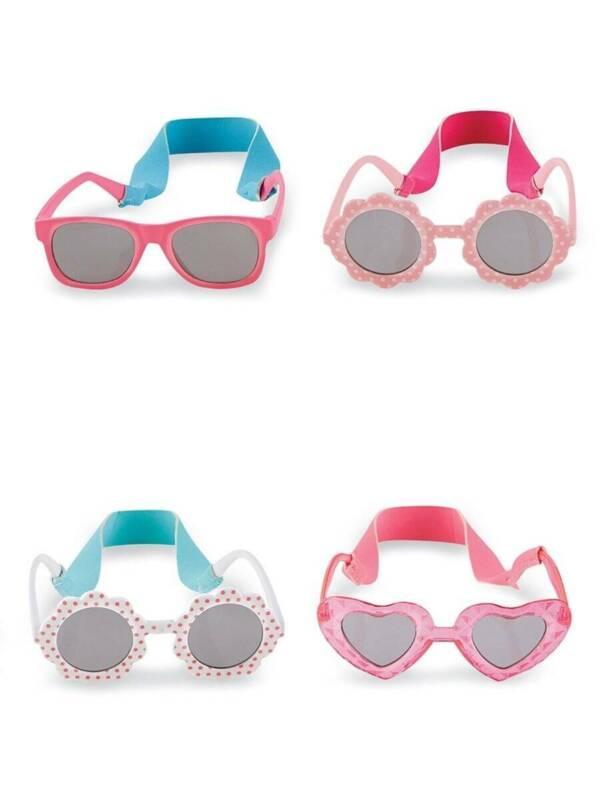 Mud Pie Baby Girls Sunglasses with Neoprene Strap  0-2 Years