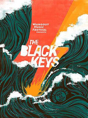"THE BLACK KEYS ""HANGOUT MUSIC FESTIVAL"" 2011 GULF SHORES,ALABAMA CONCERT POSTER"