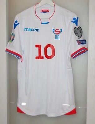 Match worn shirt Faroe Islands national team Euro 2020 Vatnhamar size M image