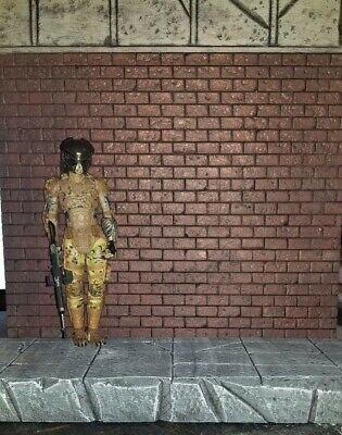 CUSTOM HANDMADE BRICK WALL BUDGET 6 INCH SCALE ACTION Figure Diorama FREE SHIP