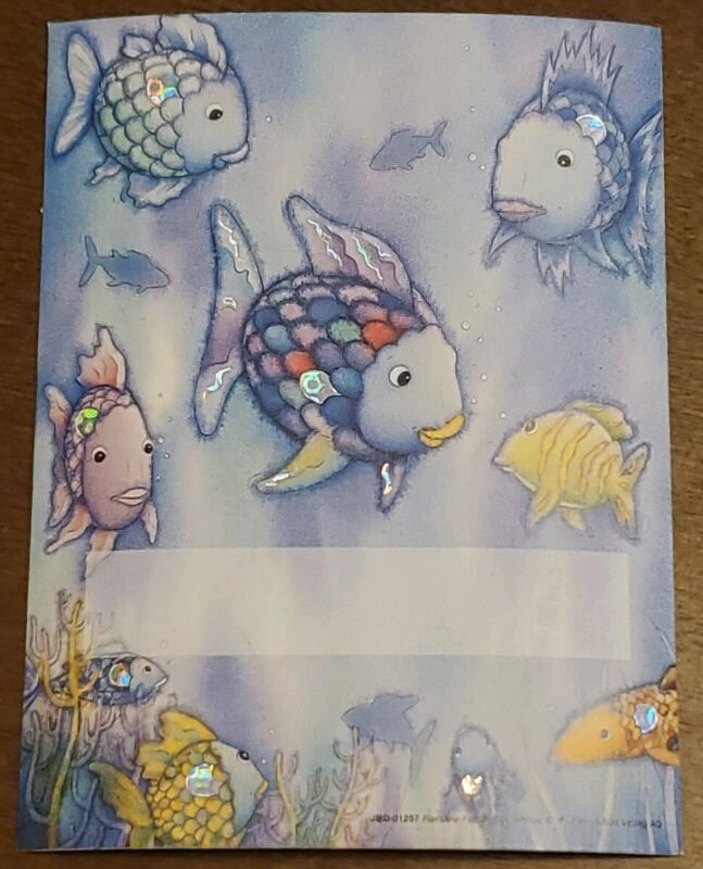 Antioch Bookplate, Rainbow Fish to the Rescue!