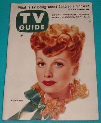 1955 PITTSBURGH TV GUIDE~LUCILLE BALL & DESI ARNAZ~BRITISH COMMERCIALS SOOTY
