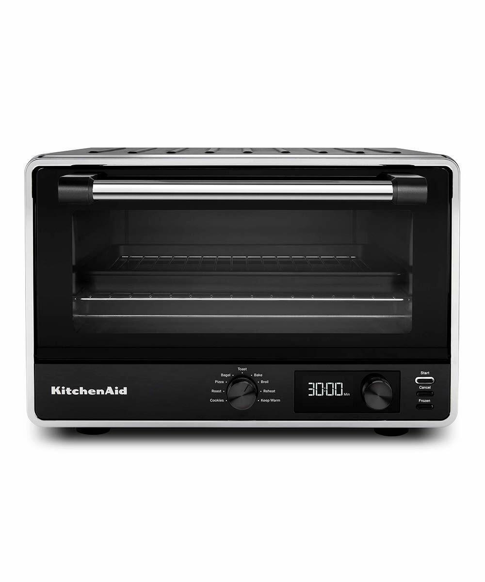 New KitchenAid KCO211BM Digital Countertop Toaster Oven, Bla