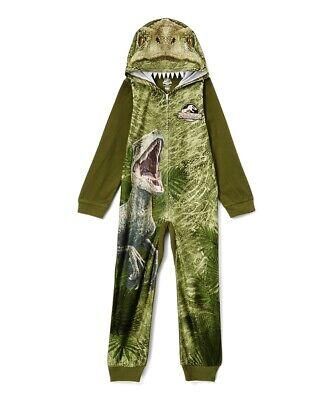 T Rex Size (Dinosaur T-Rex Pajamas Size 8,10,12 Boy One Piece Blanket Sleeper Union Suit)