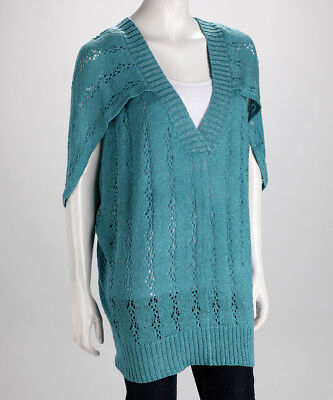 Dolce Cabo SZ L Sweater Top KNIT Seafoam(Turquoise) Pull-Over NEW
