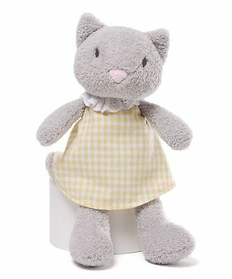 Gund Mini Meadow Plush Soft Toy Rattle For Babies ~ Clove Cat