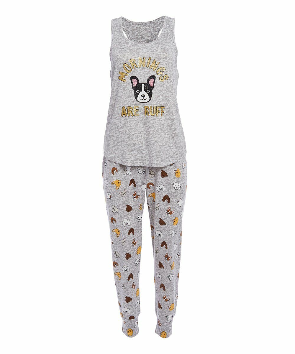 PJ Couture Womens Pajama Set NWT Dog Print Summer Joggers Pa