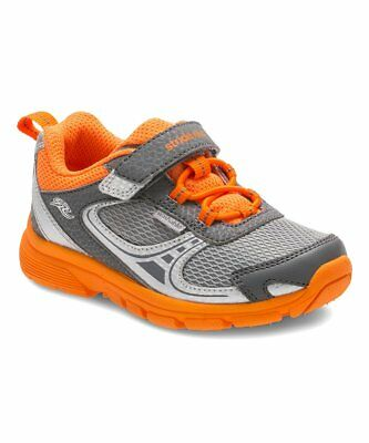 New Stride Rite Gray & Orange Made2Play Lawson Toddler Sneaker