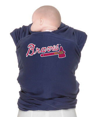 Moby Wrap Official MLB Atlanta Braves Fan Baby Carrier Baseball Navy Blue w/ Bag Blue Moby Wrap