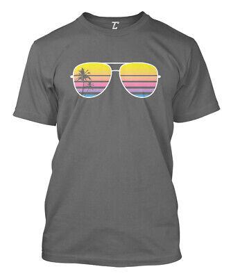 Sunglasses - Palm Tree Sunset Vacation Beach Mens T-Shirt - Palm Tree Sunglasses
