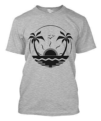 Palm Tree Sunset - Beach Coconut Sun Waves Summer Sunglasses Mens T-Shirt - Palm Tree Sunglasses
