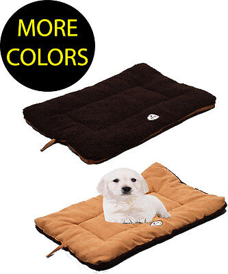 Eco Friendly Pet Beds (Eco-Friendly Eco-Paw Reversible Fleece Dual-Toned Travel Pet Dog Bed Beds Mat )