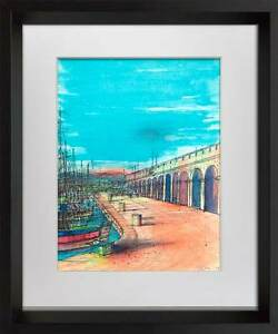 Jean-CARZOU-Lithograph-LIMITED-Edition-Antibes-034-Sign-Custom-Archival-FRAME