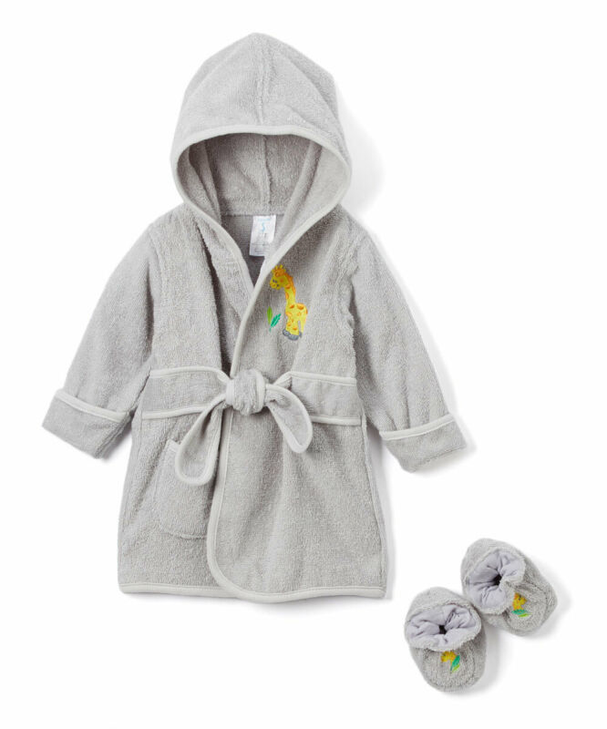 Spasilk Baby Hooded Terry Bathrobe With Booties