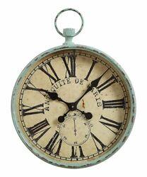 HUGE Creative Co-op Distressed  Antiques de Paris Wall Clock -Oversized- 24