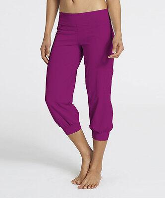 ($80 Zobha Activewear Cargo Capri Bright Magenta Leggings Dance Relax Pants  - 4)